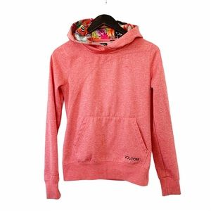 Volcom Pink Winter Sport Tech Fleece Hoodie